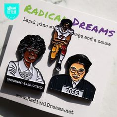 @radical_dreams_pins  . Product review: Ordering process:  Customer Service:  Quality:  Over all experience:  Price:$ . We love these pins! Conversation prices at its finest. I use them on hats jackets and my back pack. They make a statement without my saying a word. We love them & will be te-ordering soon! They'll make a great Christmas gift  .  Find a local black owned business or list your business by clicking the link in our bio