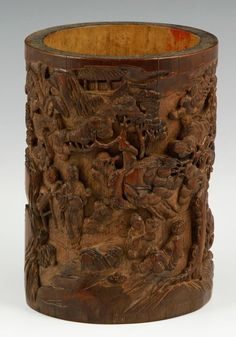 Chinese Bamboo Brush Pot : Lot 7511