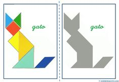 Tangram | Figuras para imprimir online Maths Day, Diy And Crafts, Crafts For Kids, Interesting Drawings, Team Building Games, Jolly Phonics, Visual Learning, Math Art, Folder Games