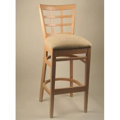 "Alston 30"" Bar Stool Frame Finish: Natural, Upholstery: Paprika"