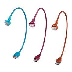 JANSJÖ Lámpara LED USB IKEA Lleva luces LED, que consumen hasta un 85% menos de electricidad y duran 20 veces más que las bombillas incandescentes.