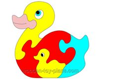 Toy Duck Puzzle Pattern