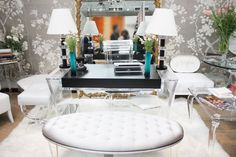 Love the Lucite furniture