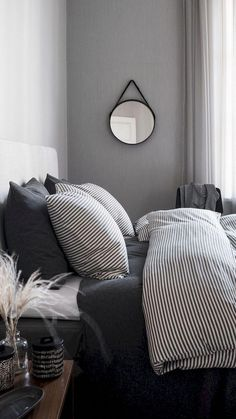 15 amazing winter bedroom decoration ideas for your comfortable sleep 14 . - Dream House - 15 amazing winter bedroom decorating ideas for your comfortable sleep 14 …, - Bedroom Black, Modern Bedroom, Girls Bedroom, White Bedrooms, Trendy Bedroom, Black White And Grey Bedroom, Modern Beds, Black And Gray, Master Bedrooms
