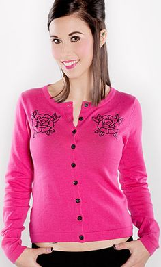 Love Pink? Lovely little cardigan for summer cold office and school.