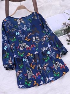 Floral Print V Neck Long Sleeve Blouse Floral Tops, Floral Prints, Republic Of The Congo, How To Get Money, Shirts For Girls, Are You The One, Glamour, Clothes For Women, Blouse
