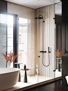 Modern Home Interior Design, Bathroom Interior Design, Bronze Bathroom, Master Bathroom, Wc Design, Washroom Design, Minimal Bathroom, Bathroom Toilets, Bathrooms