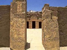 The entrance to Beit el-Wali Temple, south of Aswan, Nubia