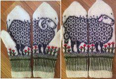 Ravelry: Sheep mittens by Jorid Linvik