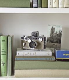 old camera, old books: LOVE!
