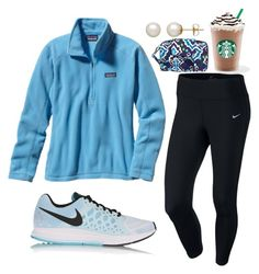 """Untitled #80"" by valerienwashington ❤ liked on Polyvore featuring NIKE, Patagonia, Vera Bradley and Honora"