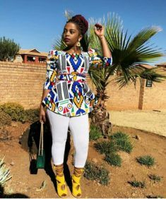 Sihle Ndaba In Beautiful Modern Ndebele Print Dress African Print Clothing, African Print Dresses, African Print Fashion, African Wear, African Dress, African Style, African Women, Traditional Wedding Attire, Traditional Outfits