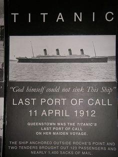 Cobh, Ireland, last port of the Titanic