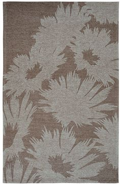 Element Grey Floral Area Rug