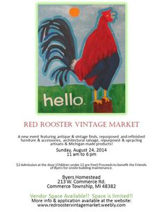 Red Rooster Vintage Market in Commerce Township, Michigan!