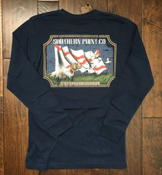 Southern Point Co - LS State Traditions Alabama White Flag - Navy
