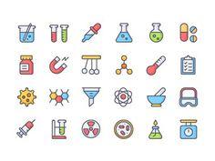 Free Chemistry Icon Set - http://freebiesjedi.com/2017/04/free-chemistry-icon-set/
