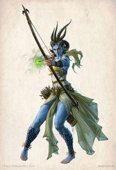 "Pairaka sorceress from ""Pathfinder RPG"" by Ekaterina Burmak (KateMaxpaint)"