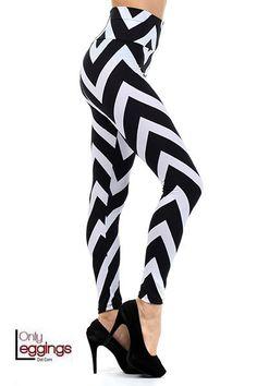 Only Leggings - High Waist Monochrome Chevron Leggings with Zipper, $35.00 (http://www.onlyleggings.com/high-waist-monochrome-chevron-leggings-with-zipper/)