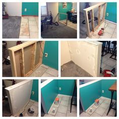 diy half wall room divider Securing A Half Wall Building