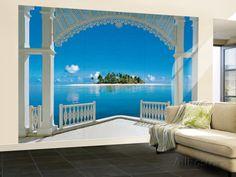 Un día perfecto en el balcón - Mural de papel pintado Mural de papel pintado en AllPosters.es