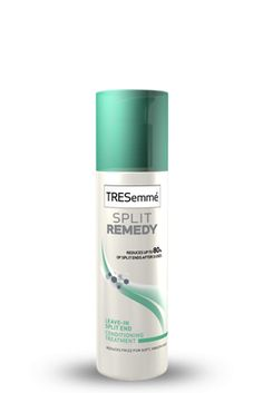 by far the best hair product for under five dollars.. Tresemmé Split Remedy Leave-In Conditioning Treatment. Repaired my horrible split ends in three days and rejuvenated the color of my hair! highly recommend #hair