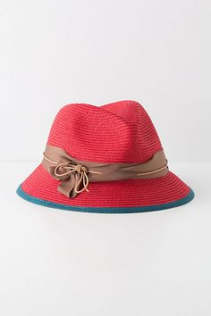 It's bright and I love it. Twirled Sinews Fedora - #Anthropologie