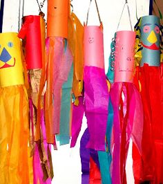 Not Compulsory: Summer Art Project 2 Weather - Wind Themes Paper Towel Roll Crafts, Sock Crafts, Toilet Paper Roll Crafts, Diy Paper, Paper Towels, Summer Art Projects, Cool Art Projects, Craft Projects For Kids, Craft Ideas