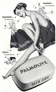 1948 Palmolive Ad. Love the random adjectives sprinkled throughout that at one time were just what the consumer needed to hear.