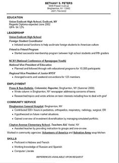 high school sample resume objective for high school resume ...