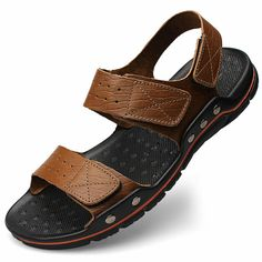 Cheap sandals fashion, Buy Quality sandals for directly from China sandals for men Suppliers: Summer Sandals Men 2017 New Fashion Sandalias hombre Beach Shoes Men's Sandals Genuine Leather Sandals For Men Zapatos Mens Fashion Shoes, Leather Fashion, Leather Men, Shoes Men, Cowhide Leather, Huarache, Leather Sandals, Shoes Sandals, Beach Sandals