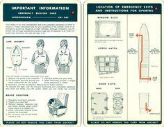 Short Sandringham flying boat safety card @ Carl Reese Collection