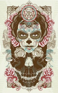 I really like this type of symmetrical digital art. I sense a mexican theme to it with their cinco de mayo.