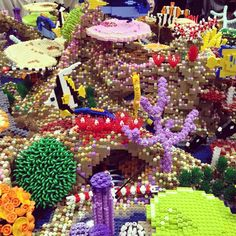 Amazing #lego coral reef at the @legoshow #brick2014