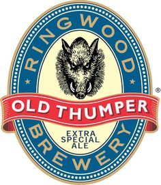 Old Thumper Logo 1 Showcase of Over 45 Inspirational Beer Logos and Labels