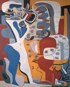 Le Corbusier Menace, 1938 Oil on canvas Private collection Le Corbusier, Abstract Expressionism, Abstract Art, Art Ancien, Alvar Aalto, Norman Rockwell, Art Graphique, Mondrian, Oeuvre D'art