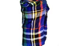 Sublime écharpe plaid à carreaux pour homme et femme.