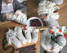 Stokpaard maken van een sok