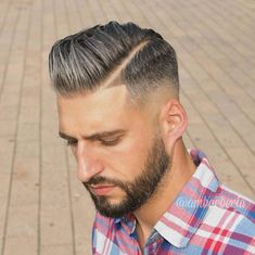 mens side part hairs