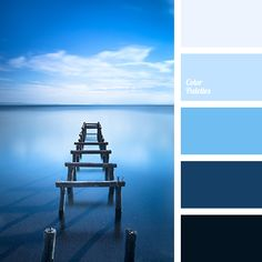almost black, bright blue, color of the sea, dark-blue, deep blue, light blue, pale blue, selection of color solutions