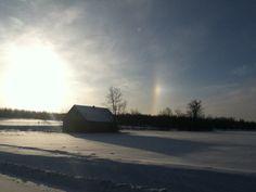 Sunshine and rainbow