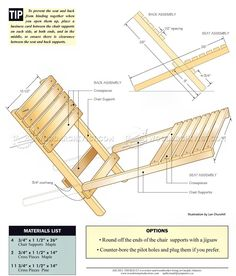 Folding Chair Plans - Outdoor Furniture Plans
