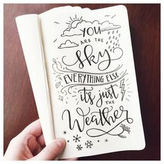 """""""Day 12: """"Weather"""" @lissletters #togetherweletter #quote #weather #motivation…"""