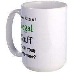 legal stuff Large Mug on CafePress.com