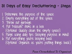 From Overwhelmed to Organized: Day 23: Bathroom Counters {31 Days of Easy Decluttering}