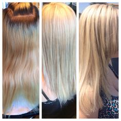 Before and after Touch up roots and some low lights for dimension! ❤️❤️❤️#hair#kayshairr