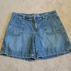 Old Navy Jean Shorts Just below waist, size 8. Has some wear from washing. 100% Cotton. Old Navy Shorts Jean Shorts