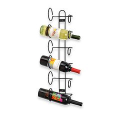 Spectrum™ Black 6-bottle Wall Mount Wine Rack