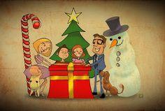 Christmas is coming ! Christmas Is Coming, Ronald Mcdonald, Manga, Comics, Studio, Illustration, Fictional Characters, Noel, Sleeve
