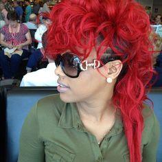 Keyshia Dior Mohawk | KEYSHIA DIOR FIRE RED Hair!!